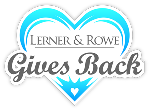 Lerner and Rowe give Back Logo